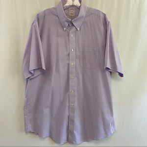 "Brooks Brothers ss cotton shirt neck 17.5"" EUC"